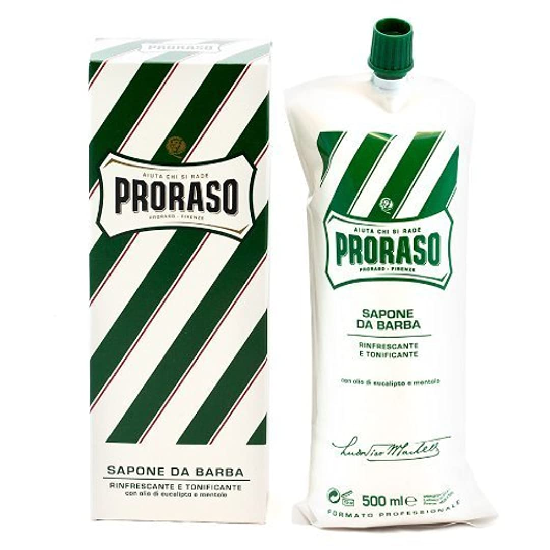多様体最悪ホットProraso Shave Cream Menthol & Eucalyptus 500ml Tube by Proraso [並行輸入品]