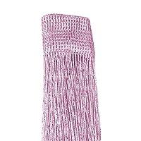 PR大丈夫TH ひものれん 目隠し ストリングカーテン 間仕切り キラキラ光る シルバー糸カーテン 約100 * 200cm 全13色 1枚入 (ピンク)