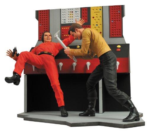 スタートレック TOS 宇宙大作戦 カーク船長vsカーン ジオラマフィギュアセット 約180mm 塗装済み完成品フィギュア