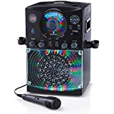 Singing Machine SML385BTBK Top Loading CDG Karaoke System with Bluetooth Sound and Disco Light Show (Black)
