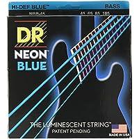 DR ベース弦 NEON ニッケルメッキ ブルー カラー コーテッド .045-.105 NBB-45