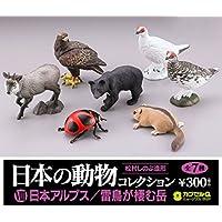 『日本の動物コレクション』第8弾 全7種セット 海洋堂 カプセルQミュージアムⅧ 日本アルプス/雷鳥が棲む岳 (ノーマルコンプリート)