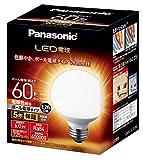 パナソニック LED電球 口金直径26mm 電球60W形相当 電球色相当(6.0W) 一般電球・ボール電球タイプ 70mm径 屋外器具対応 LDG6LG70W