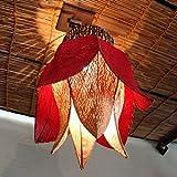 アジアン照明:吊ってOK!直付けOK!なチューリップスタイルのランプ新登場!レッド&ナチュラル