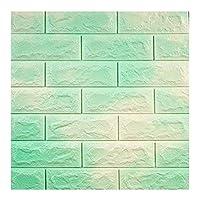 ZHANWEI 3D壁紙 ウォールステッカー 防水 厚くする 自己接着 背景の壁 レンガ模様 ソフトパッケージ デコレーション、 3色、 77×70cm (色 : C, サイズ さいず : 5 PCS)