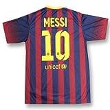 レプリカサッカー/フットサルシャツ●バルセロナ メッシ 10番 ホーム半袖●T1215