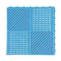 WCBIN バスルームカーペットバスマットノンスリップ疎水デザインアンチスリップバックルスプライスプラスチック、5色、10のサイズ (Color : GRAY, Size : 36PCS)