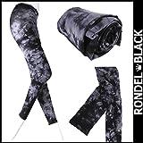RONDEL-BLACK(ロンデルブラック)タイダイ柄 総柄 タイツ グレー ブラック レギンス 10分丈[ネコポス可]