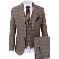 Solovedress Men's Business Suit 3 Pieces Tuxedos Casual Men Suit Fashion Blazer with Jacket