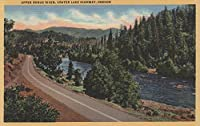 Crater湖、オレゴン州–Upper Rogue River on highway 24 x 36 Giclee Print LANT-7656-24x36