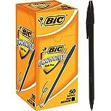 BIC Economy Ball Pens Medium Point (1.0 mm) - Black, Box of 50