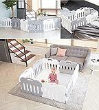 Carazセルフプレーが赤ちゃんフェンス、安全ガードベビー接続し、拡張可能な8P(並行輸入品) (gray(4p)+white(4p))