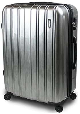 スーツケース TSAロック 搭載 超軽量 レグノライト2016~3サイズ( 大型 ジャスト型 中型 ) ミラー加工 旅行かばん キャリーバッグ トランク 【SUCCESS サクセス】 (ジャスト型 70㎝, アルミシルバー)