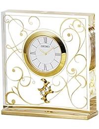 セイコー クロック 置時計 アナログ L'espoir レスポワール アラベスク 模様 UF520G SEIKO