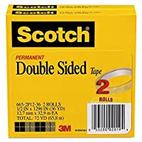 Scotch - 665 Double-Sided Tape 1/2 x 1296 3 Core Transparent - 2/Pack [並行輸入品]