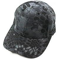 zinser (ジンザー) ミリタリーキャップ サバゲー アウトドア 帽子 ベースボールキャップ カジュアル ファッション 迷彩 タイフォン タクティカルキャップ (ブラック迷彩)