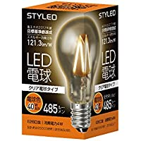 スタイルド LED電球 フィラメント クリア電球タイプ 口金直径26mm 【40W相当・485ルーメン・全方向タイプ・電球色】 LAC4T26L1