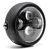 TASWK オートバイブラック6.5 インチ ヘッドライトプロジェクターヘッドランプHi/Lo ハイ/ロー LEDヘッドライト バルブ ハーレーヘッドライト