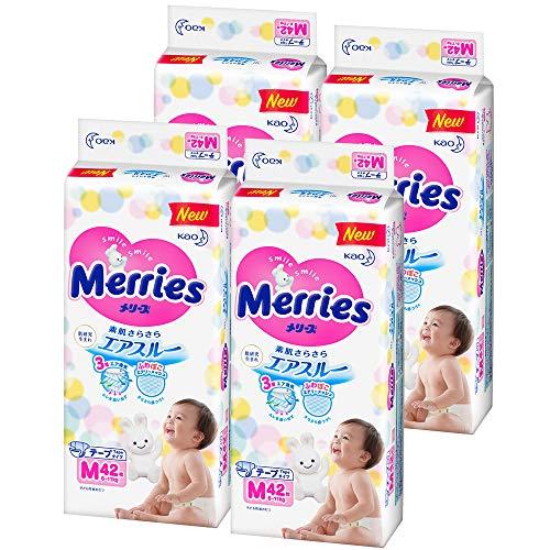 メリーズ テープ Mサイズ(6~11kg) さらさらエアスルー 168枚 (42枚×4)