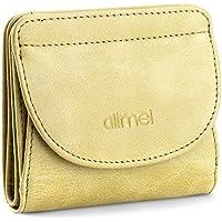 Alimei 二つ折り財布レディース 本革財布 ボックス型 メンズ 小銭入れ 大容量 コインケース