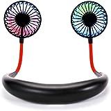 Hands Free Neck Fan Mini USB Rechargeable Personal Fan Wearable Neckband Fan Headphone Design Portable Fan with 3 Speeds Adju