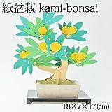 紙盆栽 kami-bonsai金豆 -kinzu-道具要らず、紙を組み立てて作る自分だけの盆栽
