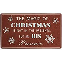 The Magic of Christmas Printing Door Mat Ship from US [並行輸入品]