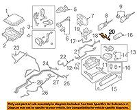 フォルクスワーゲン VW OEM 04-07 トゥアレグ ライド コントロール リアプレッシャーホース 7L0601351C