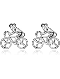 Honey Bear Cufflinksメンズ – Racingのバイクの自転車Cyclistスポーツ、メンズシャツウェディングギフトシルバー