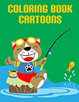 Coloring Book Cartoons: Coloring Book with Cute Animal for Toddlers , Kids , Children (Animals Manga)