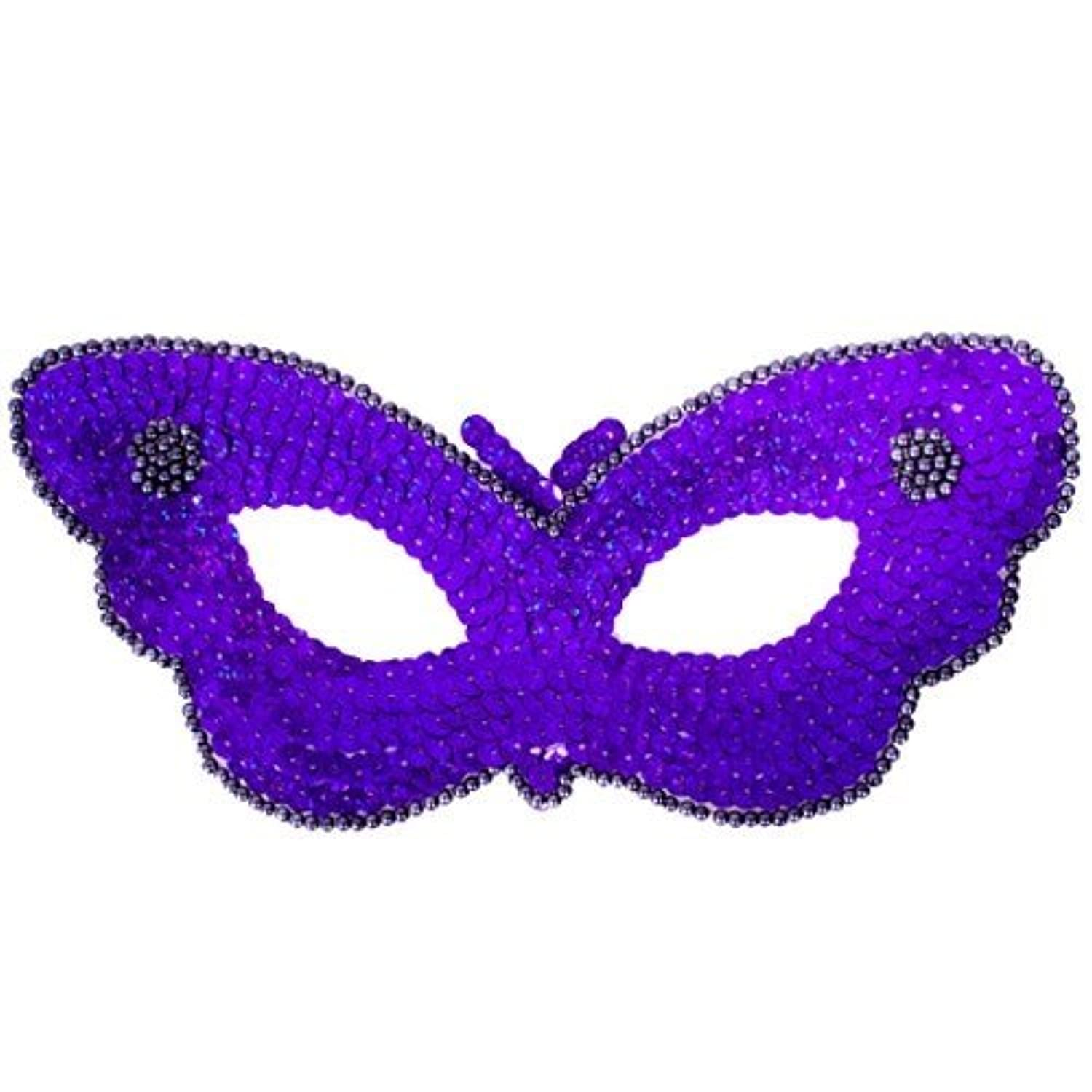Fun Party Toy - Sequin Butterfly Eye Mask (Purple)