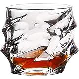 【morningplace】 ヨーロピアン ツイスト ロックグラス おしゃれな ウィスキーグラス 創造的 晩酌 ウイスキー 焼酎 に (1個)