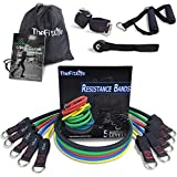 TheFitLife Exercise and Resistance Bands Set - Stackable up to 150 lbs Workout Tubes for Indoor and Outdoor Sports, Fitness, Suspension, Speed Strength, Baseball Softball Training, Home Gym, Yoga