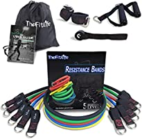 TheFitLife Exercise and Resistance Bands Set - Stackable up to 150 lbs Workout Tubes for Indoor and Outdoor Sports,...