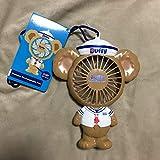香港ディズニーランド ダッフィー サニーファン 扇風機 ハンディ ミニ ストラップ USB充電