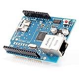 Aukru イーサネットシールド ネットワーク 拡張モジュール W5100 Arduino 2009 UNO mega 2560 1280 328用 micro SDカードスロット搭載