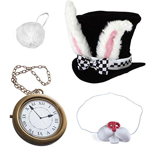 White Rabbit Costume–ウサギコスチューム–Bunnyコスチューム( 4pcコスチューム) by tigerdoe