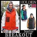 HOLDEN 15-16 ASHLAND VARSITY jacketジャケット レディース スノーボードウェア 2016 M INK/EMERALD