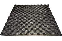 吸音 スポンジ 波型 10枚セット 防音材 吸音材 500mm x 500mm x 30mm (黒)