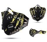 カッコイイ おしゃれ フェイス マスク ウィンター スポーツ サバゲー バイク スノボー 防寒 粉塵 雪 風 寒さ 対策 メンズ レディース (タイプ9)