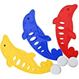 3PCS /セットプールのおもちゃのイルカの形のプラスチック製の水遊び玩具のゲーム玩具ダイビングかわいい子供のぬいぐるみのおもちゃ<br/>