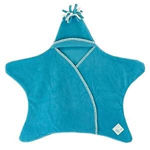 Tuppence & Crumble タッペンスアンドクランブル 星型アフガン Star Wrap スターラップ 0-4ヶ月用 ターコイズ