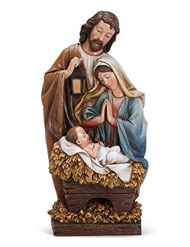 木製パレットHoly Family 13インチ樹脂クリスマスNativityテーブルトップFigurine