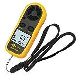 デジタル 風速計 簡単・手軽 風速計測 温度計搭載 軽量コンパクト ポケットアネモメーター(風速計&温度計)