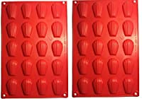 Fasmov 20-Cavity Silicone Madeleine Pan Cookie Mold,Baking Mold, Handmade Soap Moulds and more,Set of 2 by Fasmov