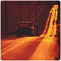 3dRose LLC 8 x 8 x 0.25 Inches Mouse Pad, Pick-Up Truck on An Isolated Road at Sunset Pennsylvania, United States (mp_37782_1) [並行輸入品]
