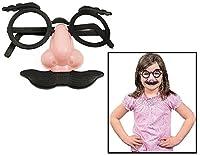 [ファンエクスプレス]Fun Express Child Nose, Eyebrows and Mustache Glasses 3 1/2. Plastic. 5576645 [並行輸入品]