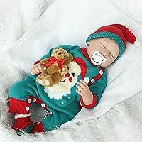 dirance 22インチLifelike Reborn人形Sleepingソフトシリコンパーツボディリアルなクリスマスガール人形ビニールreallike新生児赤ちゃん人形Outfits ,子供ギフトfor Ages 3 +、under 100ドル F DR