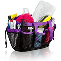 (Purple) - Mesh Shower Caddy and Bath Bag Organiser Tote with 9 Storage Compartments and Two Reinforced Handles, This Mesh Shower Bag is Quick Drying for Dorm, Gym, Camping, or Travel - (Purple) by Simply Things