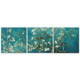 CrmaOArt - アーモンドの花現代花キャンバスプリントの額装アートヴァン・ゴッホの有名な油絵複製の花の絵のキャンバスの寝室の家庭の装飾のためにハングする準備によって壁芸術